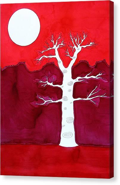 Canyon Tree Original Painting Canvas Print