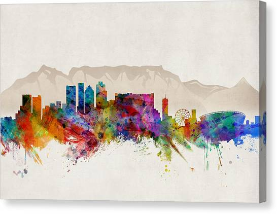 South Africa Canvas Print - Cape Town South Africa Skyline by Michael Tompsett