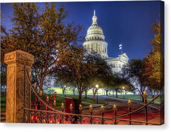 Austin Canvas Print - Capitol Stars by Tim Stanley