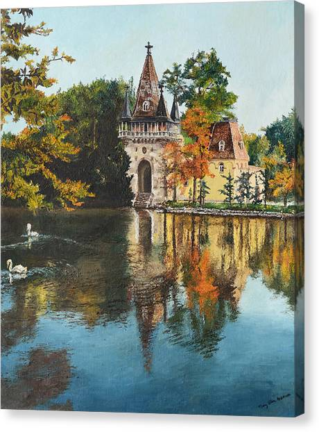 Castle On The Water Canvas Print