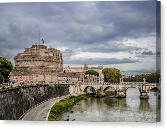 Castle St Angelo In Rome Italy Canvas Print