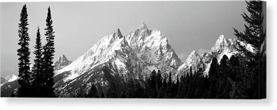 Wy Canvas Print - Cathedral Group Grand Teton National by Panoramic Images