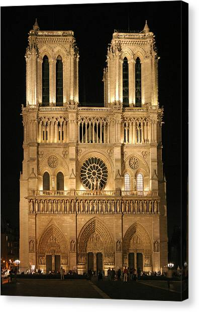 Cathedral Of Notre Dam Canvas Print by Gary Lobdell