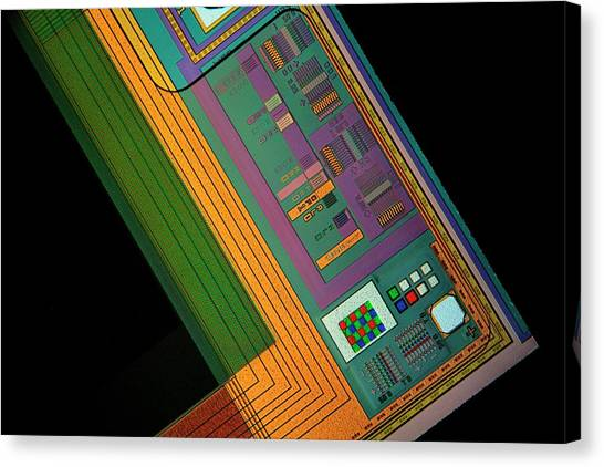 Computer Science Canvas Print - Ccd Camera Sensor by Antonio Romero