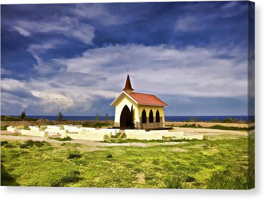 Chapel By The Sea Canvas Print