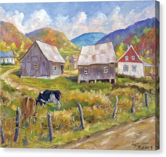 Poppys Canvas Print - Charlevoix North by Richard T Pranke
