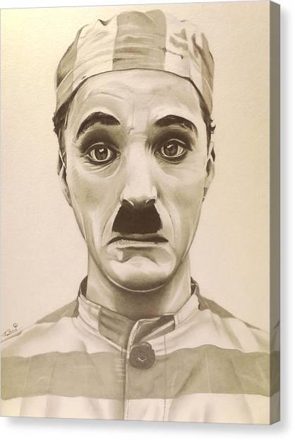 Vintage Charlie Chaplin Canvas Print