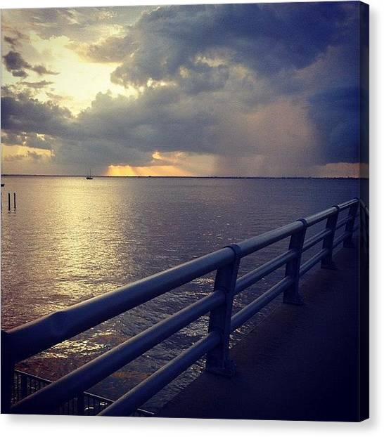 Rainclouds Canvas Print - #charlotteharbor #charlottecounty by Michelle Huey