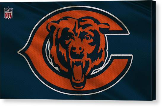 Nfc Canvas Print - Chicago Bears Uniform by Joe Hamilton