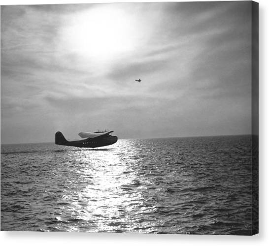 Seaplanes Canvas Print - China Clipper Seaplane by Underwood Archives