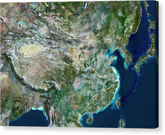 Gobi Canvas Print - China by Planetobserver/science Photo Library