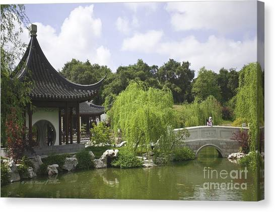 Chinese Water Garden Canvas Print