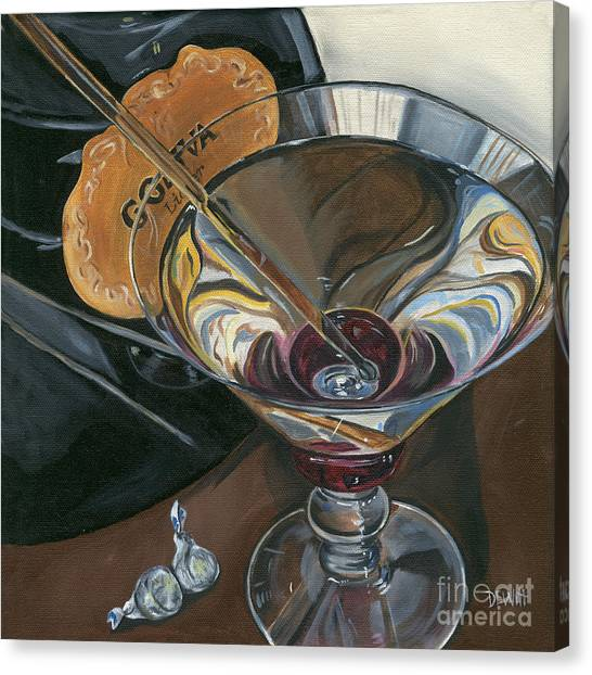 Pub Canvas Print - Chocolate Martini by Debbie DeWitt