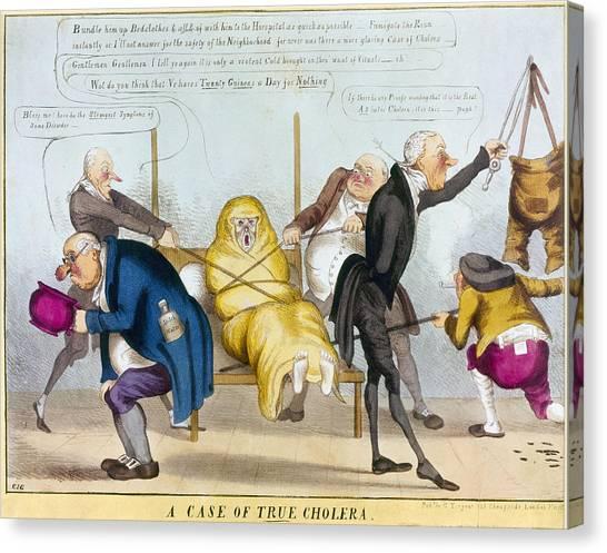 Chamber Pot Canvas Print - Cholera Epidemic, 1832 by Granger