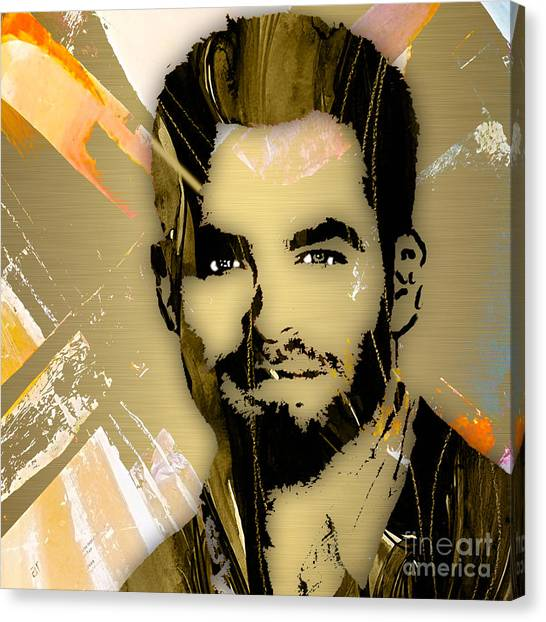 James T. Kirk Canvas Print - Chris Pine Collection by Marvin Blaine
