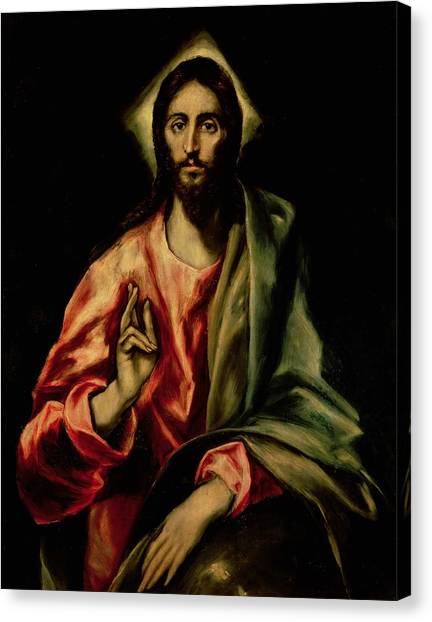 Messiah Canvas Print - Christ Blessing by El Greco