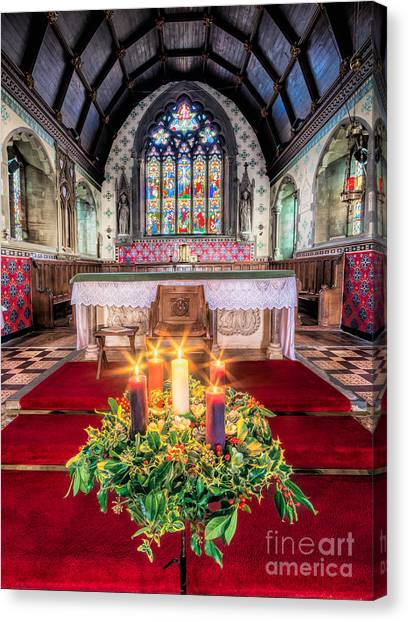 Vault Canvas Print - Christmas Candles by Adrian Evans