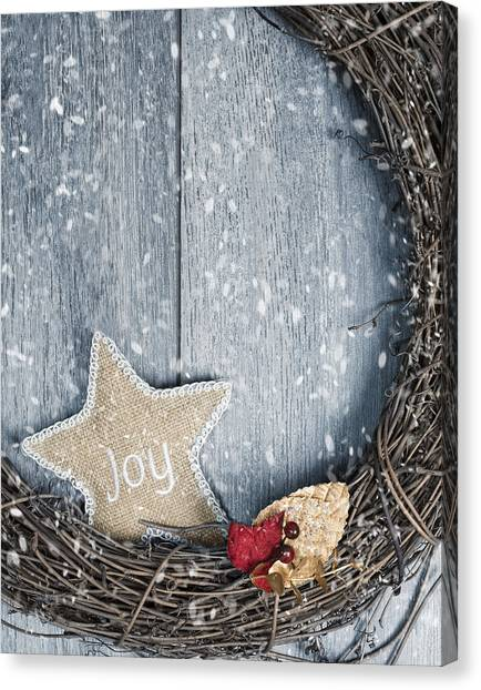 Wreath Canvas Print - Christmas Wreath by Amanda Elwell