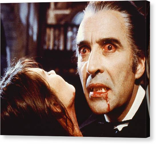 1972 Canvas Print - Christopher Lee In Dracula A.d. 1972  by Silver Screen