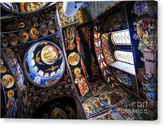 Orthodox Art Canvas Print - Church Interior by Elena Elisseeva