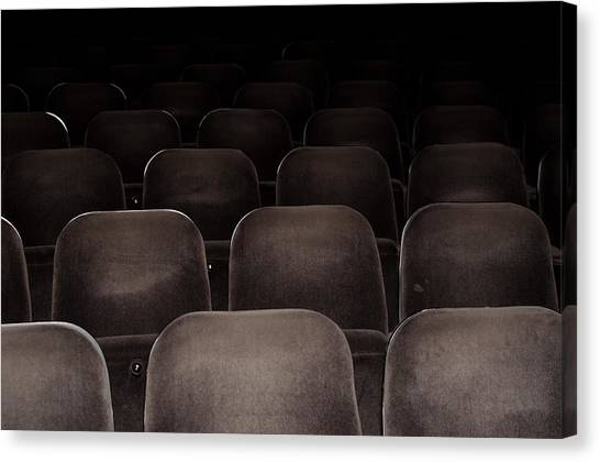 Cinema Chairs Canvas Print By Frank Gaertner