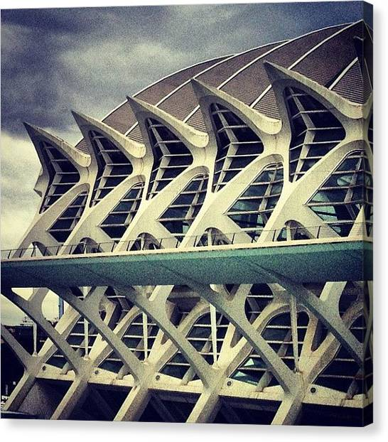 Europa Canvas Print - City Of Arts And Sciences by Mauro Sotelo