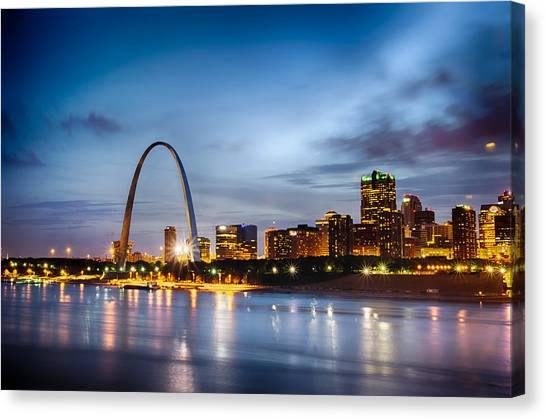 City Of St. Louis Skyline. Image Of St. Louis Downtown With Gate Canvas Print