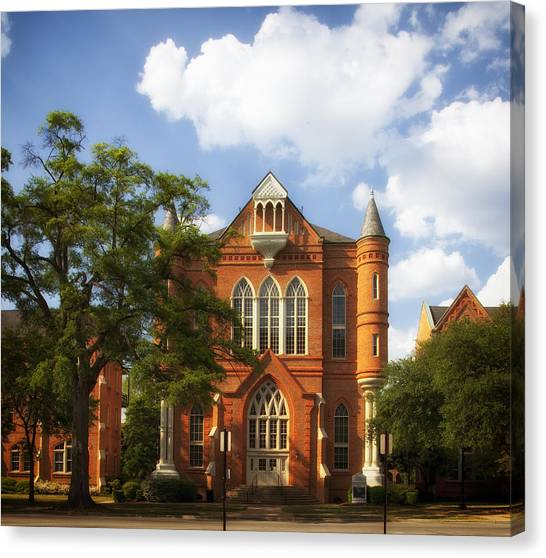 Conference Usa Canvas Print - Clark Hall - University Of Alabama by Mountain Dreams