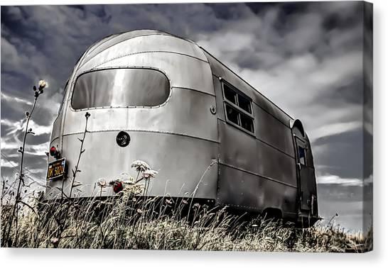 Caravan Canvas Print - Classic Airstream Caravan by Ian Hufton