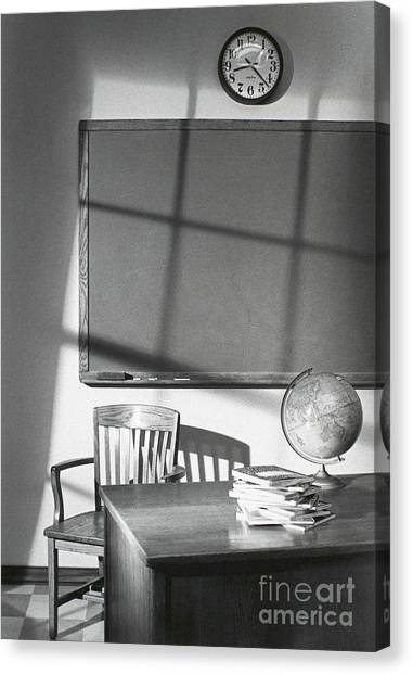 Classroom Canvas Print by Tony Cordoza