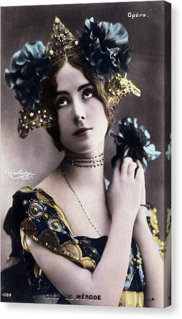Merode Canvas Print - Cleo De Merode  French Actress by Mary Evans Picture Library