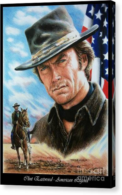 Clint Eastwood American Legend Canvas Print