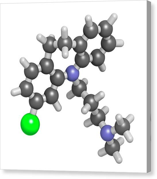 Clomipramine Tricyclic Antidepressant Canvas Print by Molekuul