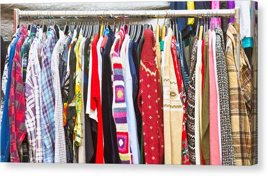 Clothing Store Canvas Print - Clothes by Tom Gowanlock