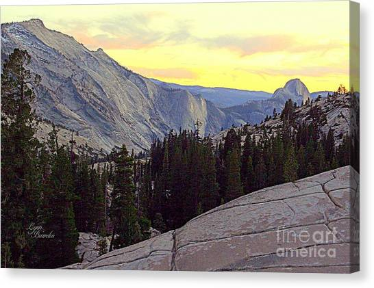 Cloud's Rest And Half Dome Canvas Print