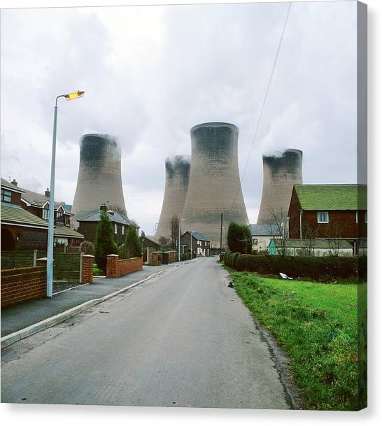 Coal-fired Power Station Canvas Print by Robert Brook/science Photo Library