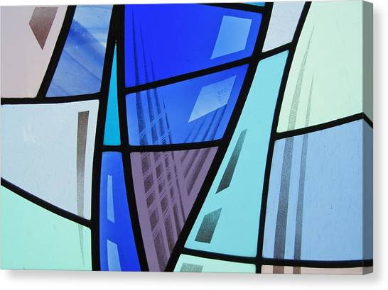 Coal Harbour Triptych Part 2 Canvas Print by Gilroy Stained Glass