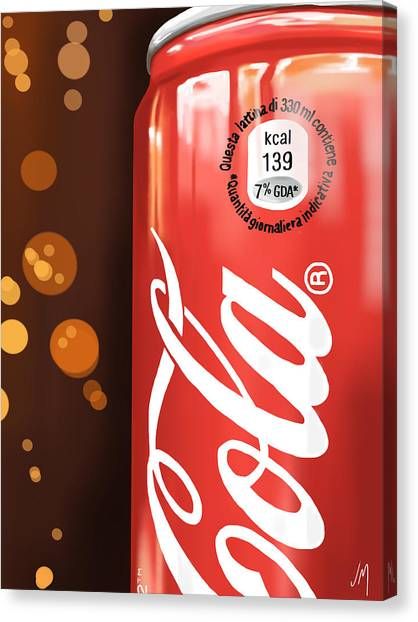 Coca Cola Canvas Print - Coca-cola by Veronica Minozzi