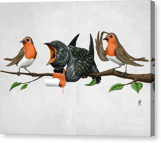 Cock Robin Wordless Canvas Print