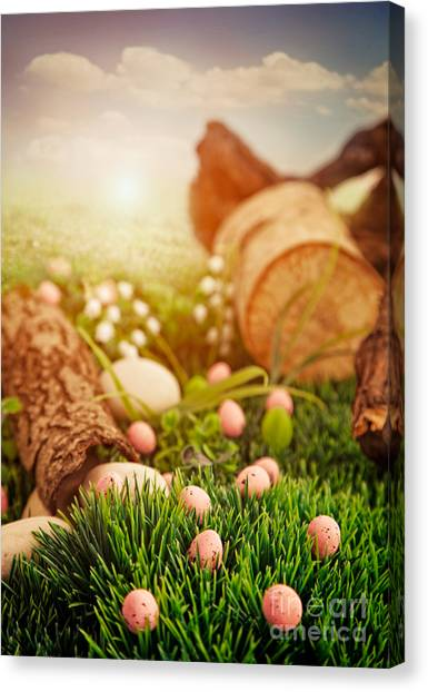 Colorful Easter  Canvas Print by Mythja  Photography