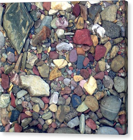 Colorful Lake Rocks Canvas Print
