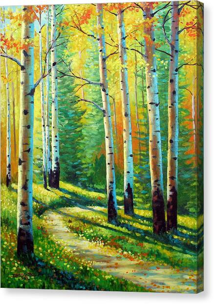 Forest Paths Canvas Print - Colors Of The Season by David G Paul