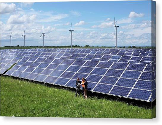 Solar Farms Canvas Print - Community Owned Solar Farm by Martin Bond