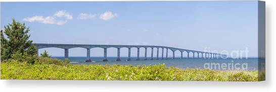 New Brunswick Canvas Print - Confederation Bridge Panorama by Elena Elisseeva