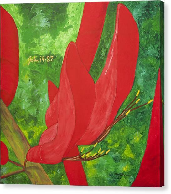Coral Bean Tree Canvas Print