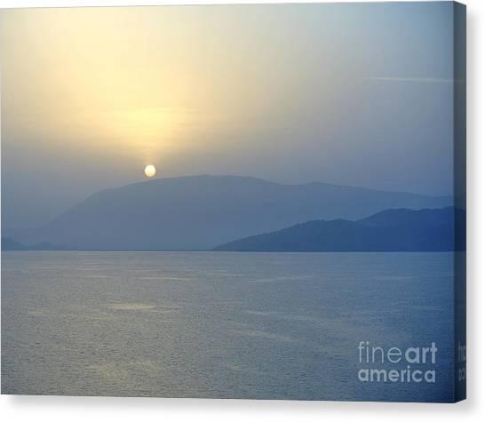 Sarah Christian Canvas Print - Corfu Sunrise by Sarah Christian