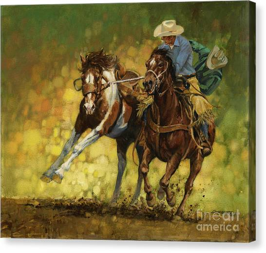 Missouri Canvas Print - Rodeo Pickup by Don  Langeneckert