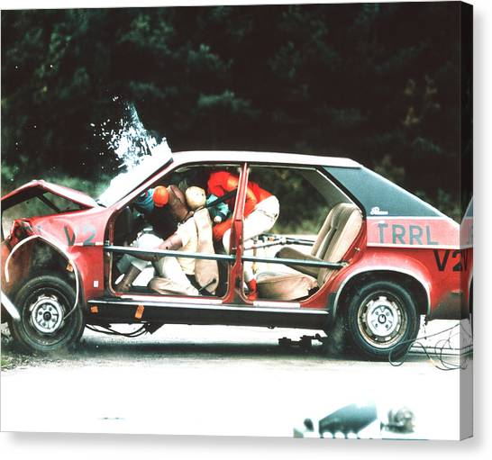 Dummies Canvas Print - Crash Testing by Trl Ltd./science Photo Library
