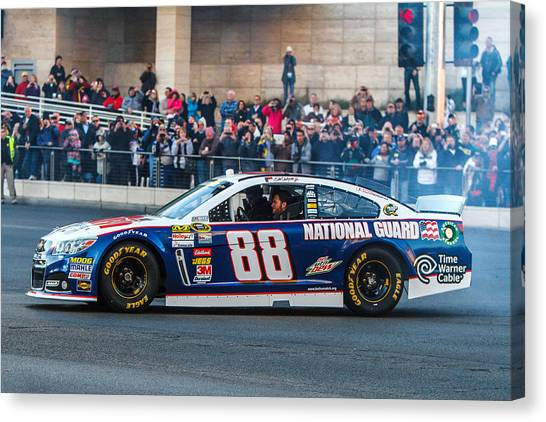 Nascar Canvas Print - Dale Earnhardt Jr by James Marvin Phelps