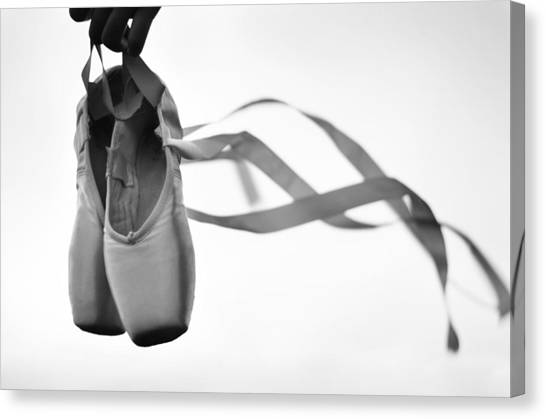 Ballet Canvas Print - Dance With The Wind by Laura Fasulo